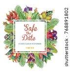 beautiful vector floral pattern ... | Shutterstock .eps vector #768891802
