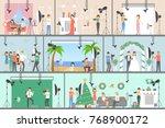 photo studio set of... | Shutterstock . vector #768900172