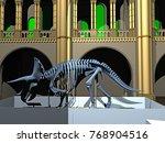 predatory dinosaur 3d rendering | Shutterstock . vector #768904516