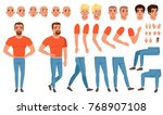 creation set of young man ... | Shutterstock .eps vector #768907108