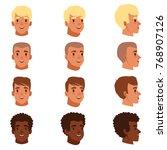 illustration of men head... | Shutterstock .eps vector #768907126
