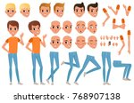 teenager boy character... | Shutterstock .eps vector #768907138