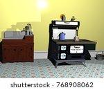 living room 3d rendering   Shutterstock . vector #768908062