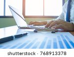young businessmen make money... | Shutterstock . vector #768913378