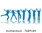 people silhouettes in action   Shutterstock .eps vector #7689184