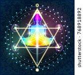 illustration sacred sacral... | Shutterstock .eps vector #768918892