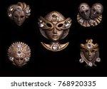 venice carnival italy masks   Shutterstock . vector #768920335