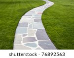 Stone Color Walkway