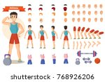 set for creating character man... | Shutterstock .eps vector #768926206