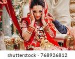 stunning indian bride dressed... | Shutterstock . vector #768926812