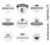 camping logos templates vector... | Shutterstock .eps vector #768930175