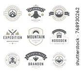 camping logos templates vector... | Shutterstock .eps vector #768930262
