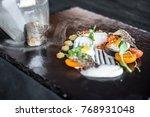 elegant food modern cuisine   Shutterstock . vector #768931048