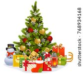 vector christmas tree with... | Shutterstock .eps vector #768934168