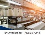 rolls of industrial cotton... | Shutterstock . vector #768937246