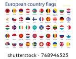 european country flags | Shutterstock . vector #768946525