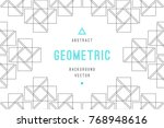 vector abstract background with ... | Shutterstock .eps vector #768948616