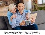 remembering the past. joyful... | Shutterstock . vector #768949942