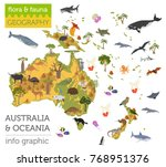 australia and oceania flora and ... | Shutterstock .eps vector #768951376