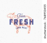 retro print effect farm fresh... | Shutterstock .eps vector #768953455