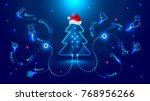christmas card in the style of... | Shutterstock .eps vector #768956266
