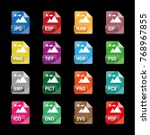 image file formats  file... | Shutterstock .eps vector #768967855