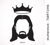 jesus christ with crown... | Shutterstock .eps vector #768971446