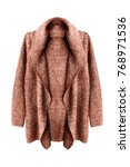 brown wool knitted oversized... | Shutterstock . vector #768971536