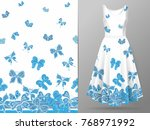 vertical seamless pattern with... | Shutterstock .eps vector #768971992