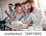 business people working... | Shutterstock . vector #768972892