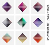 set of nine vector colorful... | Shutterstock .eps vector #768974506