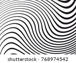 black and white wave stripe... | Shutterstock .eps vector #768974542