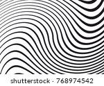 black and white wave stripe... | Shutterstock .eps vector #768974542