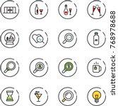 line vector icon set  ...   Shutterstock .eps vector #768978688