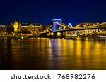 illuminated buildings and chain ... | Shutterstock . vector #768982276