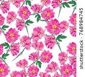 flower illustration pattern... | Shutterstock .eps vector #768984745