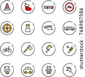 line vector icon set   road...   Shutterstock .eps vector #768987586