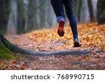 Autumn Trail Running Backgroun...