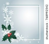 merry christmas and new year... | Shutterstock .eps vector #768992542