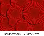 red fan background template... | Shutterstock .eps vector #768996295