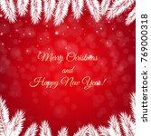 red winter xmas poster  | Shutterstock . vector #769000318