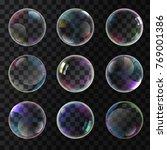colorful soap bubbles   Shutterstock .eps vector #769001386