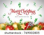 merry christmas best offer... | Shutterstock .eps vector #769002805