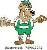cartoon illustration of a bear... | Shutterstock .eps vector #769013242