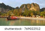 railay bay and beach 2017  ... | Shutterstock . vector #769022512