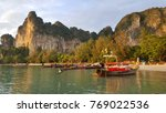 railay bay and beach 2017  ... | Shutterstock . vector #769022536