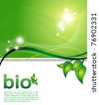 ecology green background   Shutterstock .eps vector #76902331
