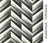 abstract monochrome zigzag... | Shutterstock .eps vector #769026142
