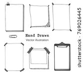 hand drawn cartoon vector set...   Shutterstock .eps vector #769026445