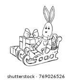 vector illustration of sitting... | Shutterstock .eps vector #769026526